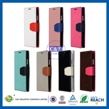 Mobile phone accessory flip leather case for samsung s4 i9500
