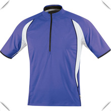 2014 mens high quality OEM turtle neck Zipper sports running T Shirts ,dry fit moisture wicking with Breathability