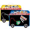 for children cute bus shaped plastic chalkboard