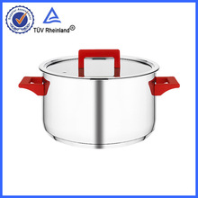 s/s 304 18/10 material stainless steel cookware looks like casserole set bakelite side handle cookware