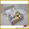 custom printing design paper container boxes for cupcakes,cupcakes container boxes