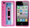 Protective Unique Cassette Soft Silicone Back Cover Phone Case for iPhone 4G