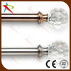 Extendable crystal finials curtain rods in dubai