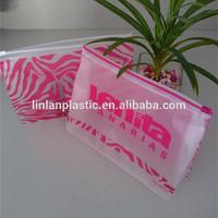 PP Plastic gift present /custom pvc zip lock plastic bikini /cosmetics packaging bag