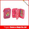 Fashionble pink disney princess 2 zipper pencil case for girls