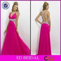 Chiffon A-line Halter Crystal Detailing Houston Fashion Mature Women Designer Evening Dress Patterns 2014