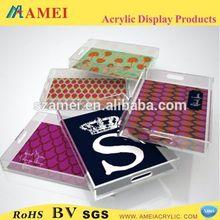 Top quality acrylic bathroom amenity tray
