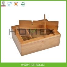 Tea Container/Bamboo Kitchen Box/Kitchen Tea Bag Storage Box/Gift Box/Jewelry Box/Home Storage Solutions/Homex