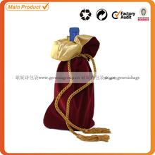 velvet wine bottle bag