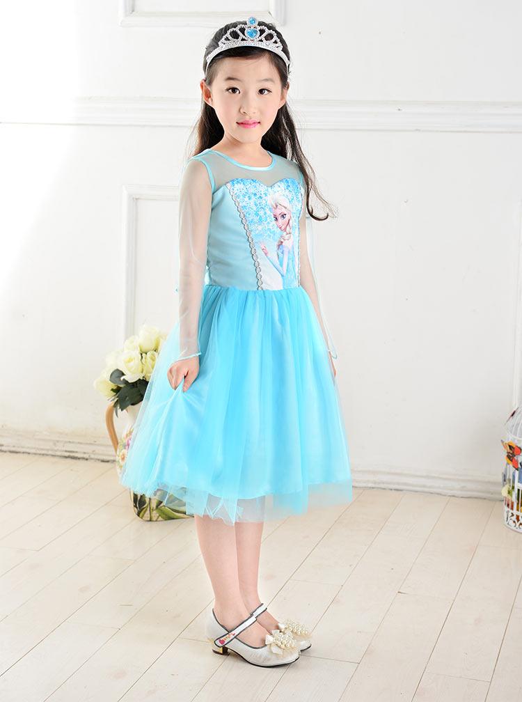 2015 new girls dress cosplay costume dresses kids wedding dress summer