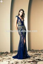 2014 ZIAD NAKAD elegant new long chiffon party dress SS092 long lace evening dress