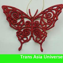 2014 new plastic butterflies for garden decoration