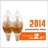 3w LED candle lamp light led bulbs housings sell to hong kong led lights