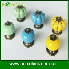 wholesale decorative colorful round ceramic porcelain door knob