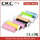 Portable charger power bank Custom solution LOGO Power Bank 2200/2600MAH bulk lipstick Shape Power Bank