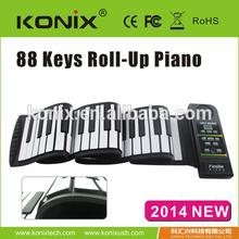 Portable USB MIDI Roll-up 88 Standard Keys Flexible Soft Keyboard Piano
