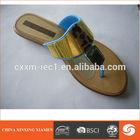 woman nude beach slippers PVC
