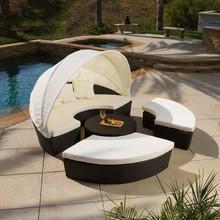 garden synthetic wicker round sofa bali rattan outdoor furniture