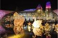 al aire libre de la figura de la escena de las luces led de vacaciones adornos
