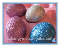 2014 plastic christmas ball ornament glitter powder