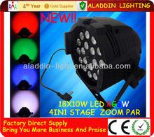 LED RGBW 4in1 18pcs 10W Par dj club/party stage lights