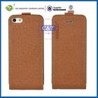 Manufacturer Wholesales flip genuine leather case for iphone 5c