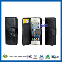 wholesale cell phone accessories woman wallet leather case for iphone 5c