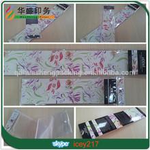 Luxury custom plastic hair packaging bag with insert