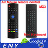 MX3 2.4G Wireless Fly Air Mouse Remote Controller - Black Six-Axis 81-Key Smart Somatosensory