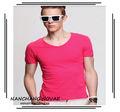 manga corta t traje para la camisa de los hombres de moda barata de los fabricantes
