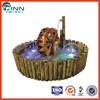 Wooden Basin Water Wheel Indoor Mini Fountain