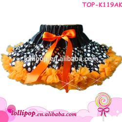 Hot sale! dots with orange wholesale new designs pettiskirt baby dress