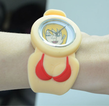 New style fashion silicone alloy case japan movement watch china direct supply