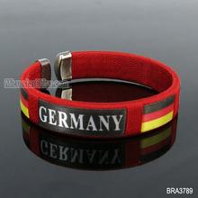 2014 New design woven rope GERMANY football team bracelet