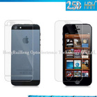 New glass protective film leather phone bag for iphone 5
