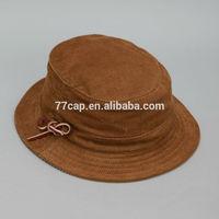 High Quality Short Brim Cotton Corduroy Blank Bucket Hat Wholesales