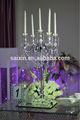 candelabros de prata com cristal pendurado para a decoração de eventos