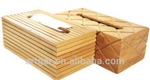 Custom Household Rectangle Bamboo Tissue Box