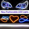Hottest 2014 Flexible DRL DC 12V dual color Flexible daytime running light / turning light
