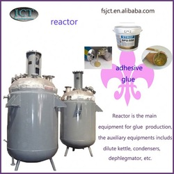 fabric adhesive and silicone adhesive agitated reactor