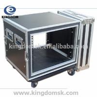 Portable Shockproof Flight Case 10U with Heavy-Duty Flight Case Hardwares