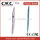 Power bank credit card size micro usb battery charger ROHS/CE/FCC Power Bank LED 850MAH1050MAH1350MAH metal case credit card