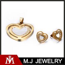 MJ Jewelry best things buy jewelry sets,316L stainless steel jewelry sets dubai MJ-S01020