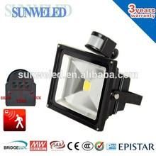 IES SAA Bridgelux 30w pir motion sensor led flood light 10w 20w 30w 50w 5 days delivery