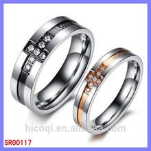 Stainless Steel Wedding Band Diamond Loyal Love Ring