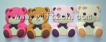 3D Teddy bear cartoon penguin cat Silicone phone case