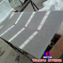Popular White Colors Polishing Kiitchen Grey Quartz Countertops