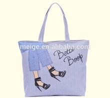 BSCI Audit factory cotton tote bag / organic cotton tote bags wholesale / standard size cotton tote bag