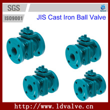 DN32 10K JIS Standard Cast Iron Soft Seal 2 Pc Ball Valve