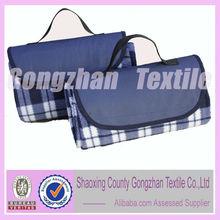 100% polyester fleece handle bag for picnic blanket